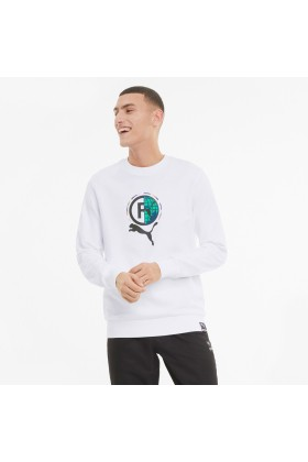 Puma - Puma International Graphic Erkek Beyaz Sweatshirt