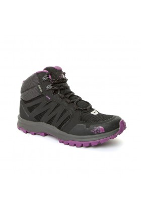 The North Face - SİYAH Kadın Outdoor Bot T92Y8PRJS W THE NORTH FACE LITEWAVE FASTPACK MID GTX TNFBLK/WDVIOLET