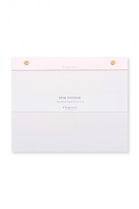 Chapters - Large Notepad - Pink