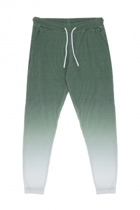 Bassigue - GREEN OMBRE WAFFLE SWEATPANTS