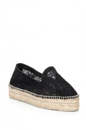 Manebi - Paris Macrame on Net Black Espadril
