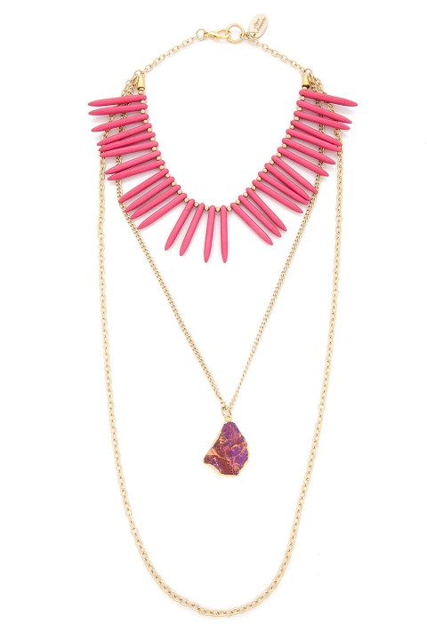 Aypen Accessories Pink Spike Bead Zincir Kolye